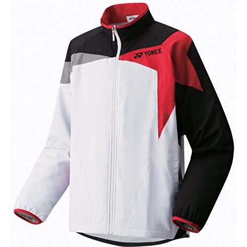 (ヨネックス)YONEX ユニウインドウォーマーシャツ 70041 114 ホワイト/レッド O