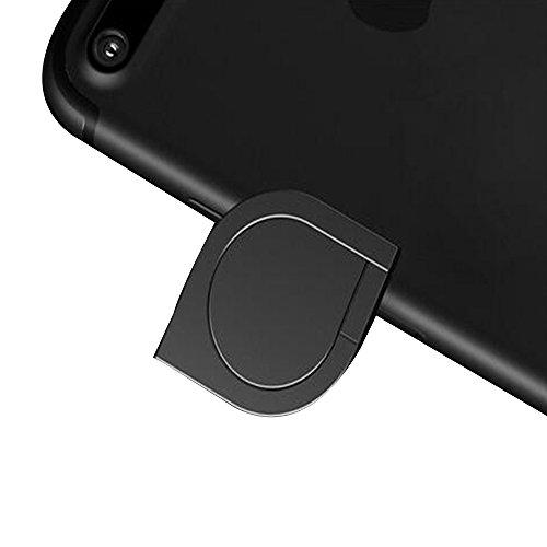 DBMART スマホリング ホルダー バンカーリング 360度回転 落下防止 ホールドリング 車載ホルダー対応 iPhone/iPad/iPod/Galaxy/Xperia/android多機種対応 スマートフォン・タブレット金属を指1本で保持・落下防止・スタンド機能 アルミニウム合金 スマホリング スマホ対応 シズク ハンドスピナー 指先ジャイロ ジャイロ 耐荷重約3-5kg 水洗できる (ブラック)