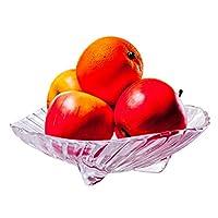 ZFDM ガラスドライフルーツプレートヨーロッパの創造的なフルーツプレートストライプフルーツプレートホームデコレーション