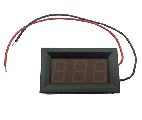 KKHMF 赤 DC3.2V-30V デジタル電圧計 適用6V 12V 電気自動車オートバイ