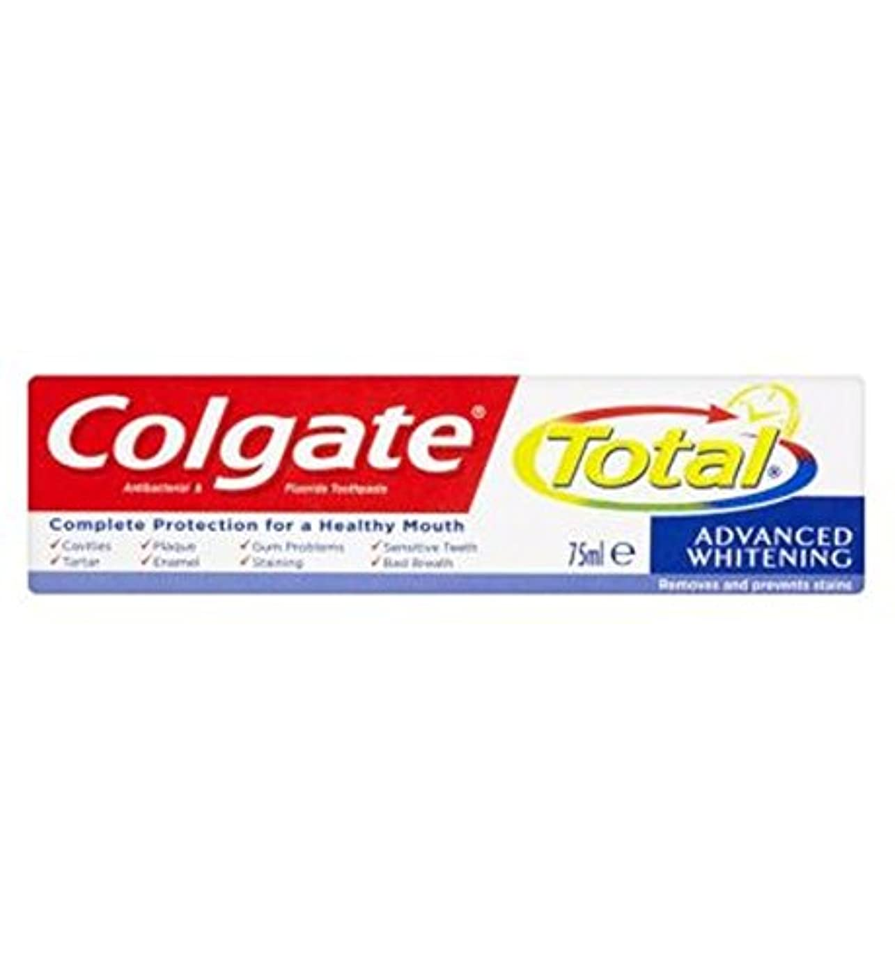 超えてバイソンキャプテンColgate Total Advanced Whitening toothpaste 75ml - コルゲートトータル高度なホワイトニング歯磨き粉75ミリリットル (Colgate) [並行輸入品]
