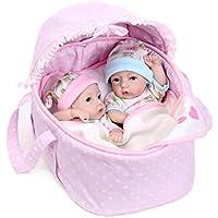 Baoblaze 28cm人形 リボーン 新生児ドール 赤ちゃん 女の子 シリコーン バスケット キルト 贈り物
