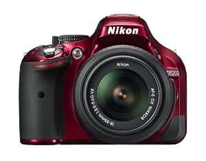 Nikon デジタル一眼レフカメラ D5200 レンズキット AF-S DX NIKKOR 18-55mm f/3.5-5.6G VR付属 レッド D5200LKRD