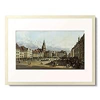 ベルナルド・ベッロット Bernardo Bellotto 「Der Altmarkt in Dresden von der Schlossgasse aus. 1751.」 額装アート作品