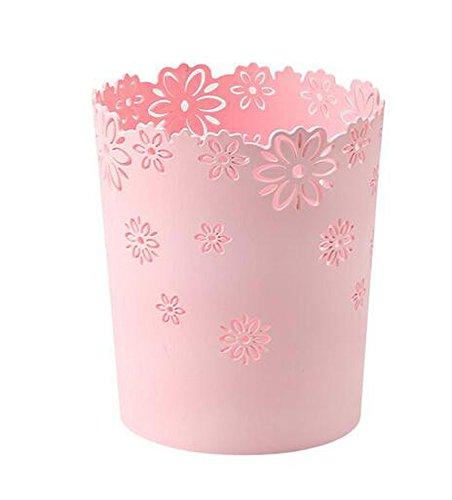 ふく福 プラスチック フタなしゴミ箱 円筒形 ダストボックス...