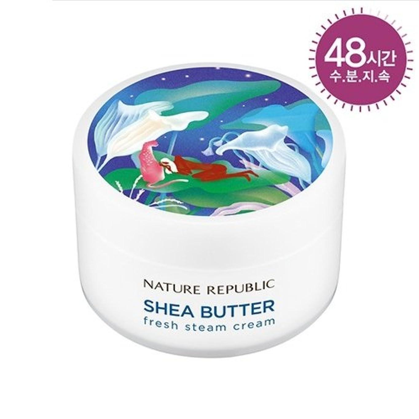 鈍い滴下くしゃくしゃNATURE REPUBLIC(ネイチャーリパブリック) SHEA BUTTER STEAM CREAM シアバター スチーム クリーム #フレッシュスオイリー肌
