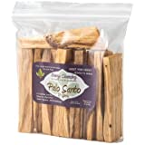 Energy Cleansing Premium Authentic Peruvian Palo Santo (Holy Wood) Incense Smudge Sticks 10, Wild Harvested, 100% Natural and