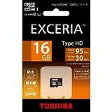 TOSHIBA microSDHC UHS-Iカード EXCERIA TypeHD 16GB (MUH-A016G)