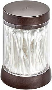 InterDesign iDesign Cosmetic Jar, Plastic Cosmetic Organiser with Lid, Clear/Bronze