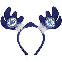チェルシー フットボールクラブ Chelsea FC オフィシャル クリスマス ライトアップ トナカイのツノカチューシャ ヘッドバンド