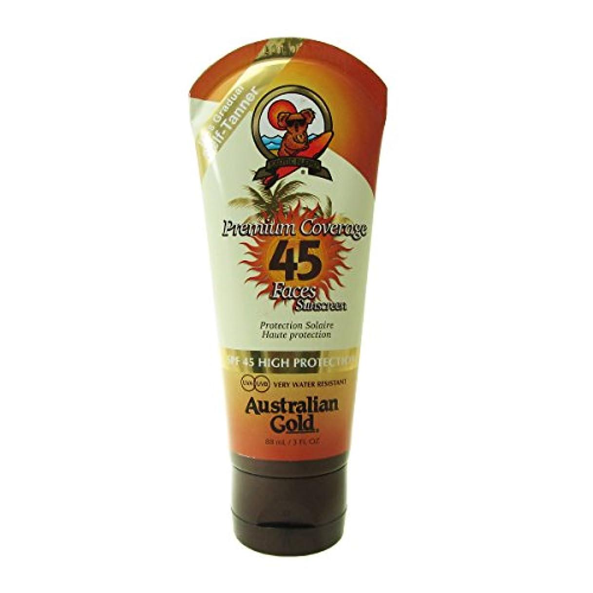 窒素ブレイズセンブランスAustralian Gold Sunscreen Spf 45 With Self-tanner 88ml [並行輸入品]