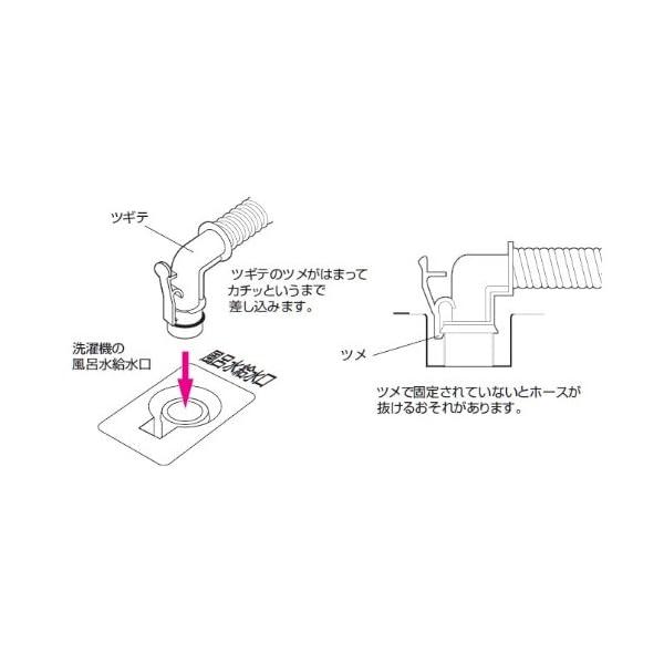 三栄水栓 風呂水給水ホース 4Mの紹介画像6