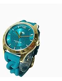 3d6767506982 コーチ COACH ○ギフトBOX付!!○ 腕時計 14502901 W6043 TEA/MADDY シリコンラバー レディース腕時計  文字盤:ターコイズ系/ベルト:ターコイズ系…