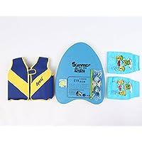 Titop幼児ベビーライフジャケットunder 20ポンド子供ライフベストネイビーブルーS packang Glasses / Floatation袖/フローティングplatege /鼻/耳プロテクター