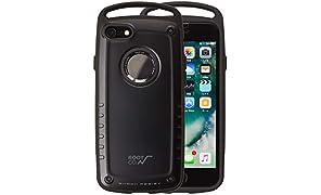 【ROOT CO.】iPhone7 iPhone8 ケース 耐衝撃 GRAVITY Shock Resist Case Pro. (マットブラック)米軍MIL規格取得