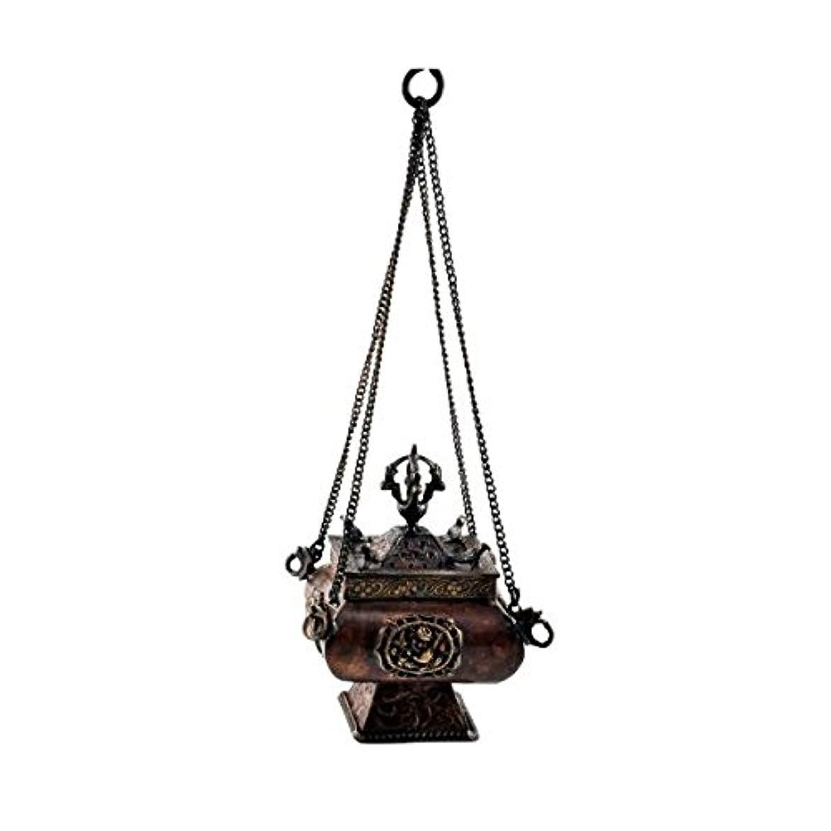 標高是正する絵プレミアム品質銅真鍮Hanging Incense Burner Incense Burner