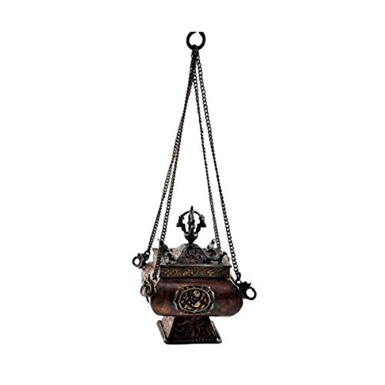 隠す感謝祭不明瞭プレミアム品質銅真鍮Hanging Incense Burner Incense Burner