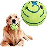 Dog Play Training Wobble Wag Giggle Ball Pet Toys with Funny Sound No Harm Interactive 15.5cm