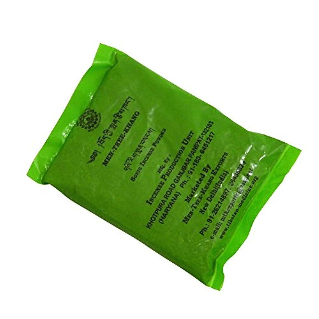 浸食真夜中前者メンツィーカン チベット医学暦法研究所メンツィーカンのお香 グリーン袋【TIBETAN SORIG INCENSE POWDERソリグパウダー】