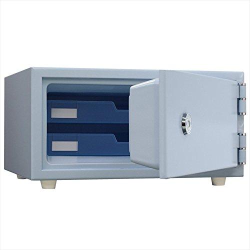 日本アイエスケイ(King CROWN) ワンキー式 耐火金庫 (JIS一般紙用1時間標準加熱試験合格) スカイブルー CPS-30K SB