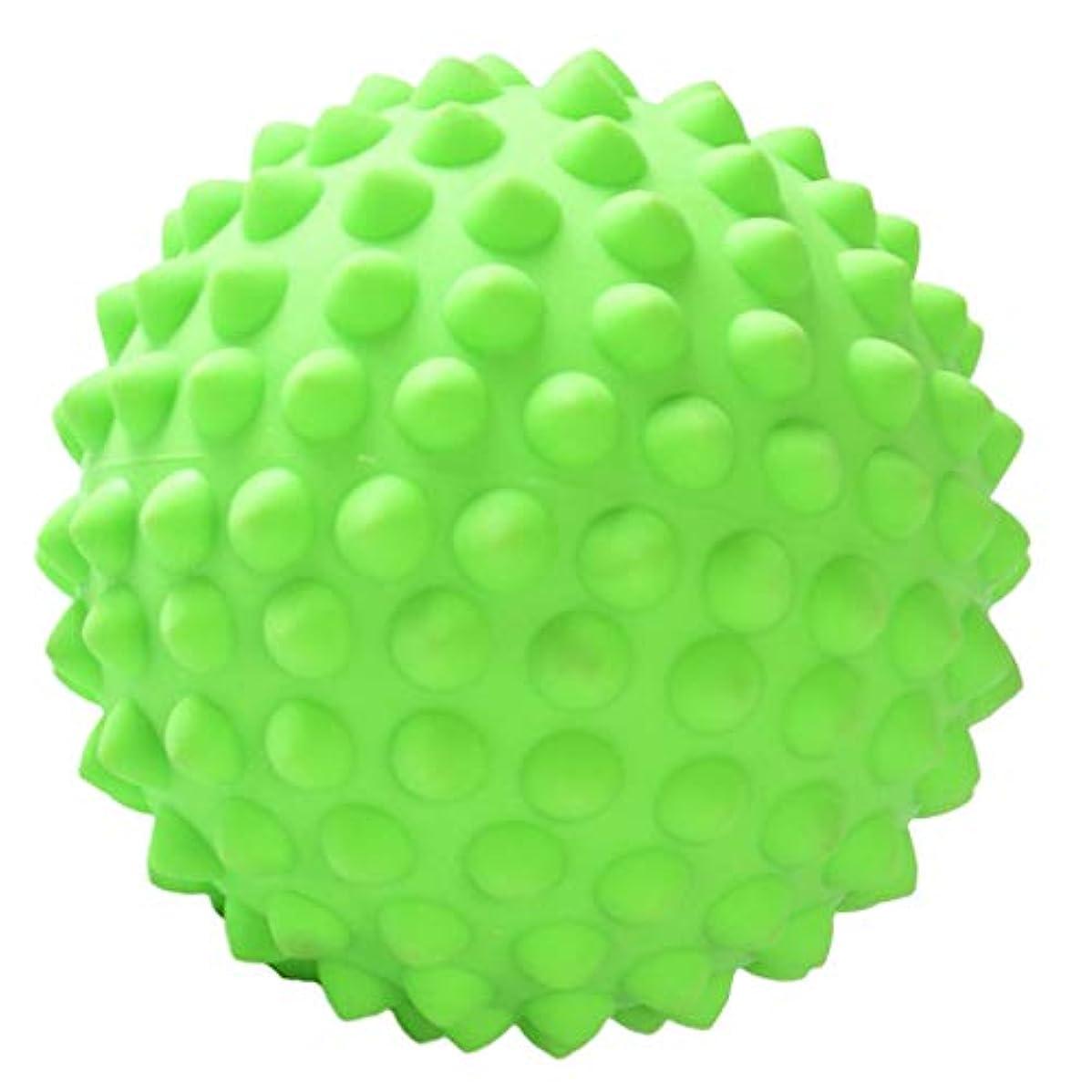 こしょう応用一時的ハードスパイキーマッサージボールボディディープティッシュリラクゼーション足底筋膜炎の救済 - 緑, 説明のとおり