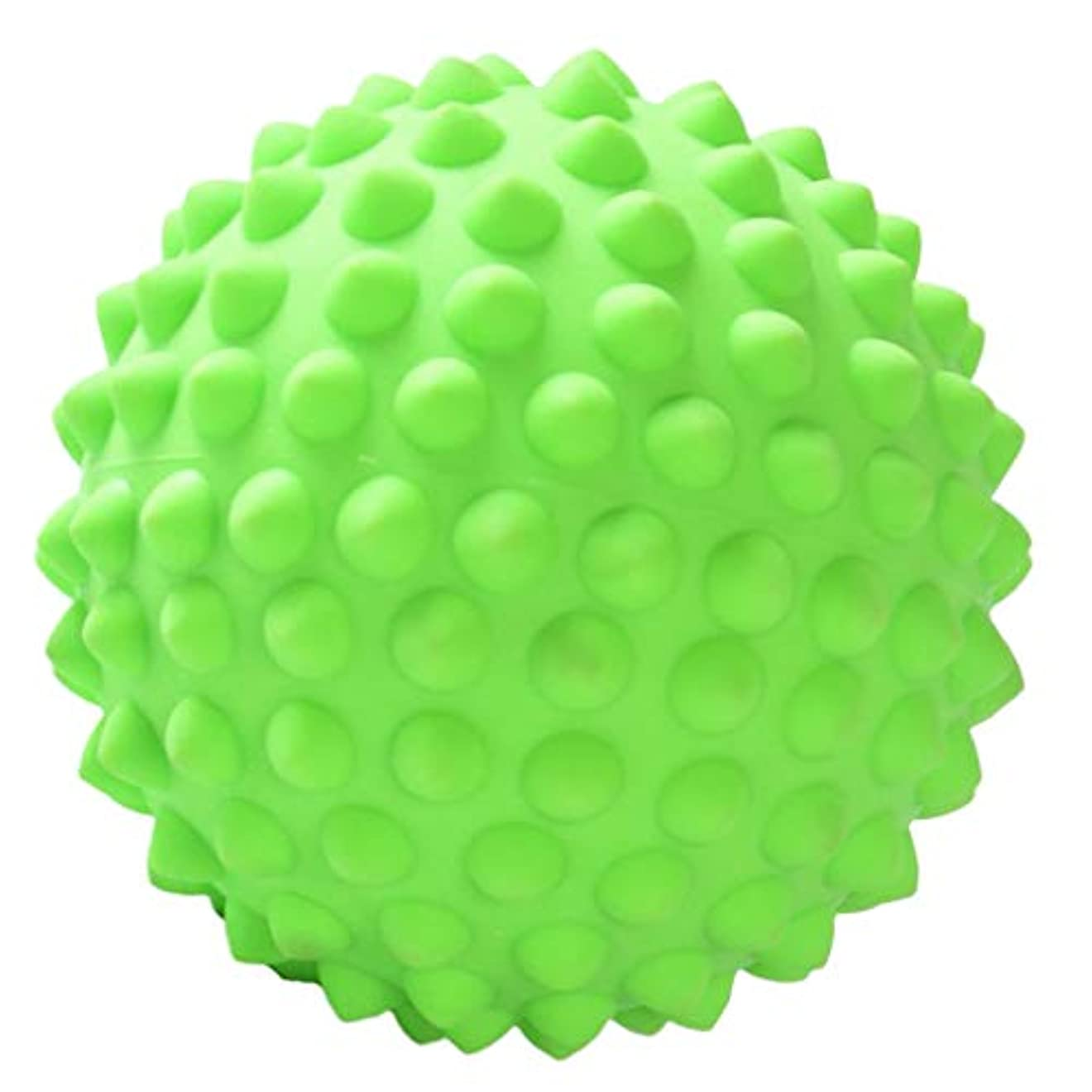 クリープ防止気づくなるハードスパイキーマッサージボールボディディープティッシュリラクゼーション足底筋膜炎の救済 - 緑, 説明のとおり