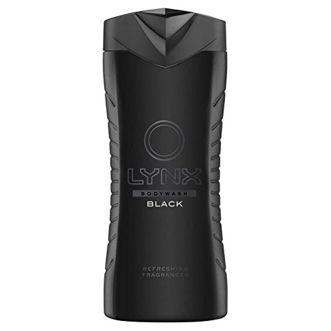 飾るシマウマ冷酷なLynx Black Shower Gel 400ml - オオヤマネコブラックシャワージェル400ミリリットル [並行輸入品]