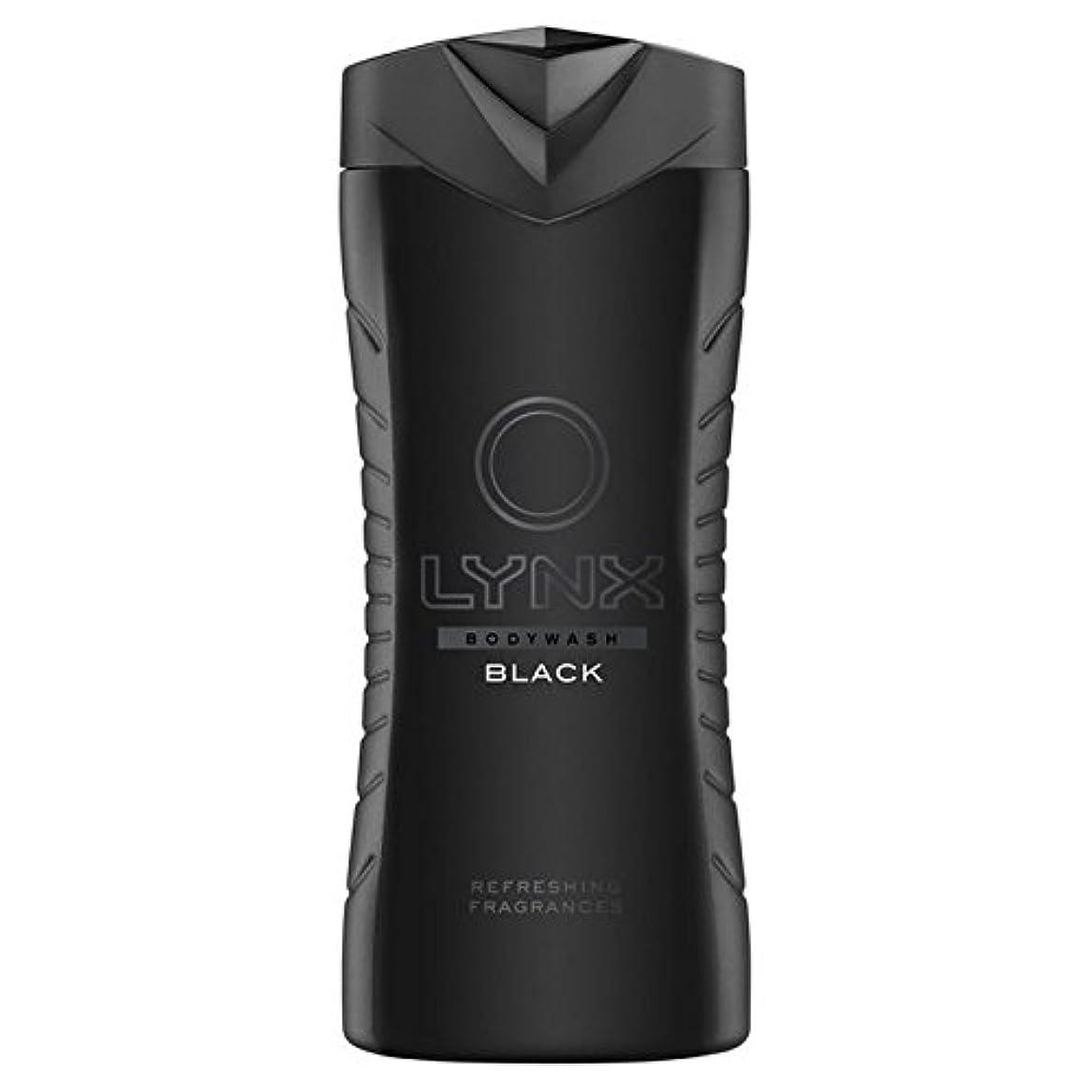 六ピボット溶岩オオヤマネコブラックシャワージェル400ミリリットル x2 - Lynx Black Shower Gel 400ml (Pack of 2) [並行輸入品]