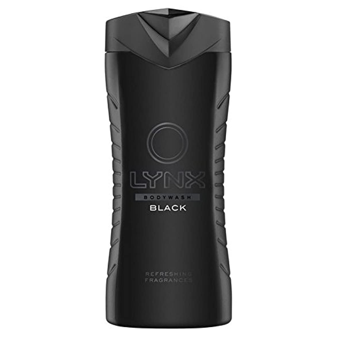 スプレーいらいらさせる健康的Lynx Black Shower Gel 400ml (Pack of 6) - オオヤマネコブラックシャワージェル400ミリリットル x6 [並行輸入品]