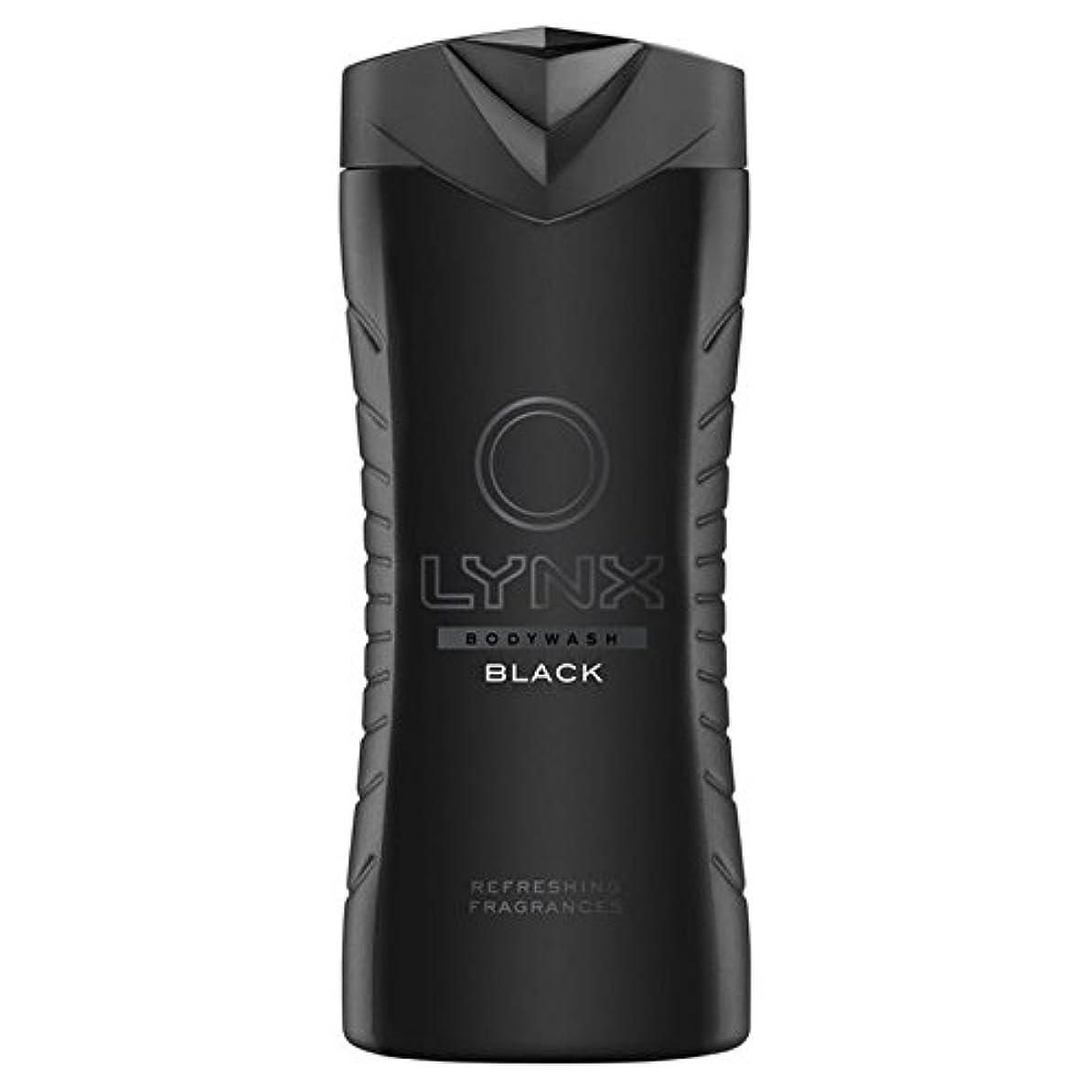 承認するに応じて小人オオヤマネコブラックシャワージェル400ミリリットル x4 - Lynx Black Shower Gel 400ml (Pack of 4) [並行輸入品]