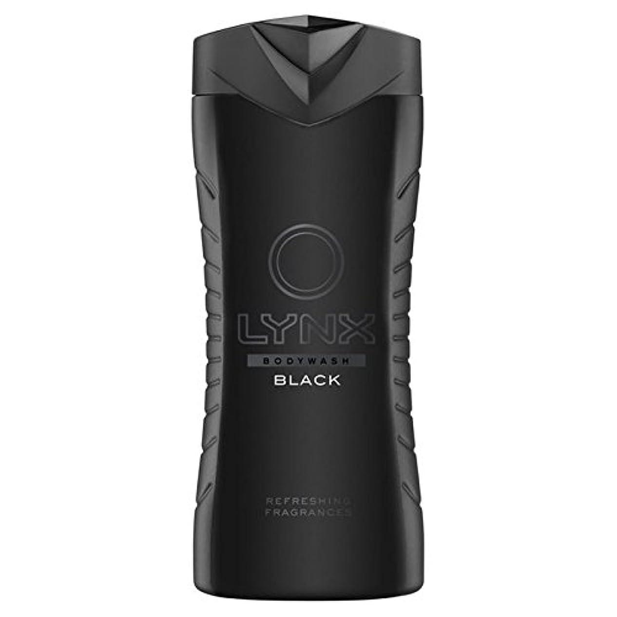 びん支配的ボイラーLynx Black Shower Gel 400ml (Pack of 6) - オオヤマネコブラックシャワージェル400ミリリットル x6 [並行輸入品]
