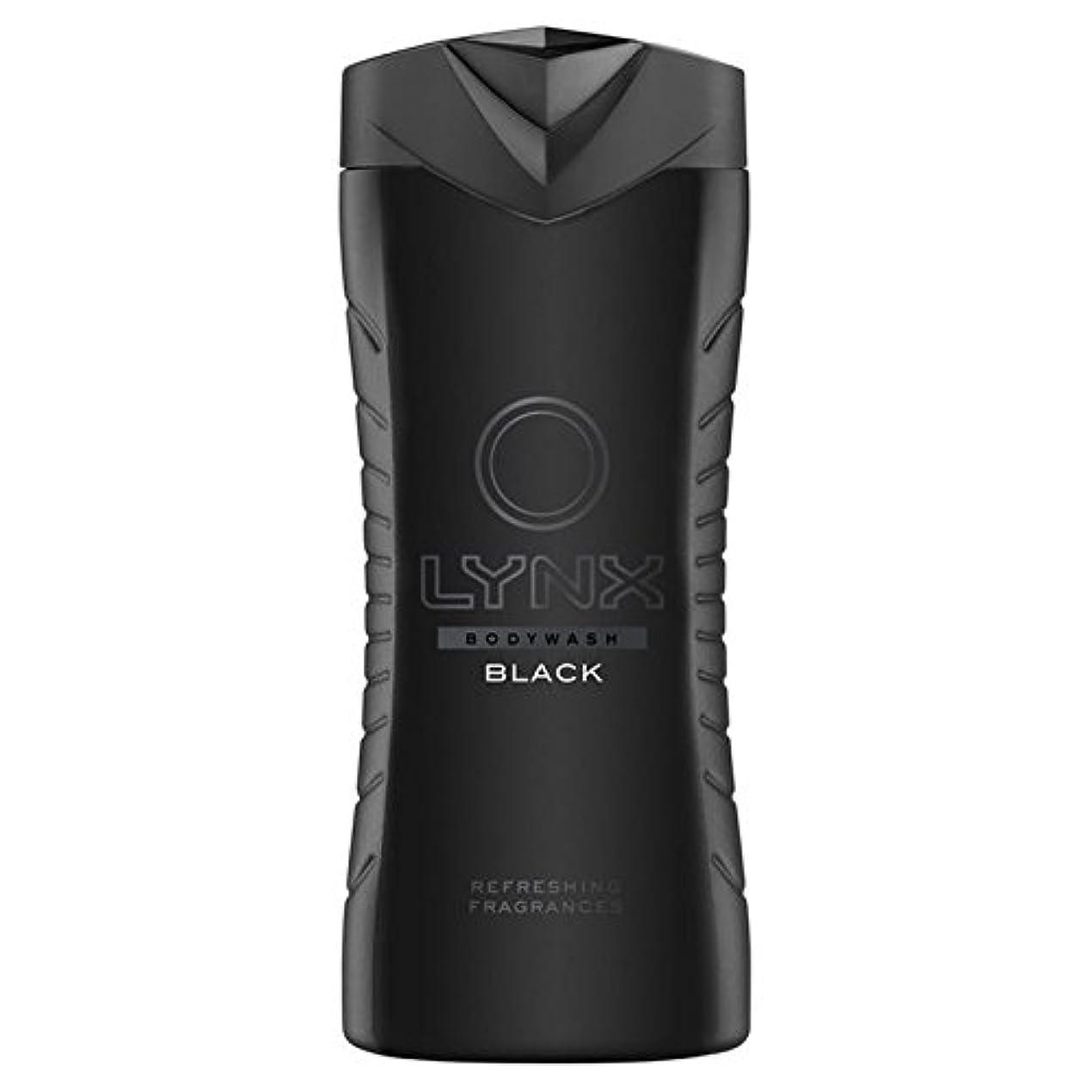船乗り配分あいにくLynx Black Shower Gel 400ml - オオヤマネコブラックシャワージェル400ミリリットル [並行輸入品]