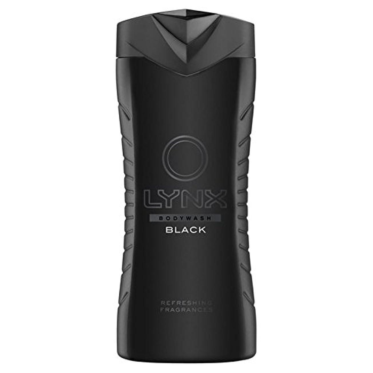 プロテスタントびっくりする手足オオヤマネコブラックシャワージェル400ミリリットル x2 - Lynx Black Shower Gel 400ml (Pack of 2) [並行輸入品]