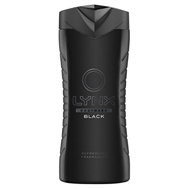 洗練された派生する速報Lynx Black Shower Gel 400ml (Pack of 6) - オオヤマネコブラックシャワージェル400ミリリットル x6 [並行輸入品]