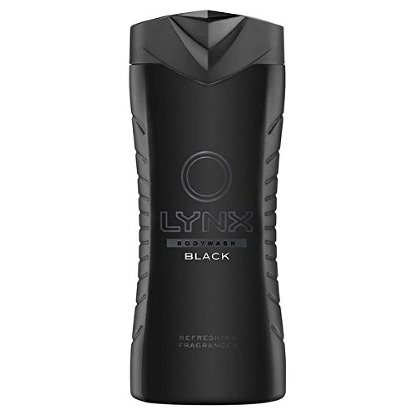 バブルビーム製作Lynx Black Shower Gel 400ml (Pack of 6) - オオヤマネコブラックシャワージェル400ミリリットル x6 [並行輸入品]