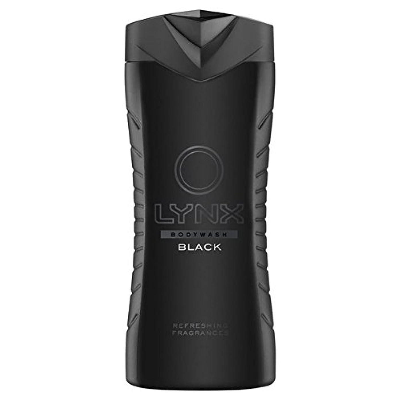むちゃくちゃバンジージャンプ国民Lynx Black Shower Gel 400ml - オオヤマネコブラックシャワージェル400ミリリットル [並行輸入品]