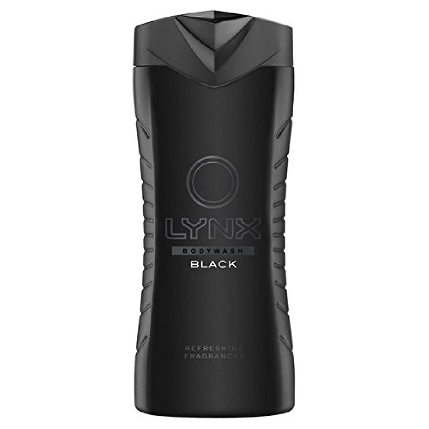 形式生理本物のLynx Black Shower Gel 400ml - オオヤマネコブラックシャワージェル400ミリリットル [並行輸入品]