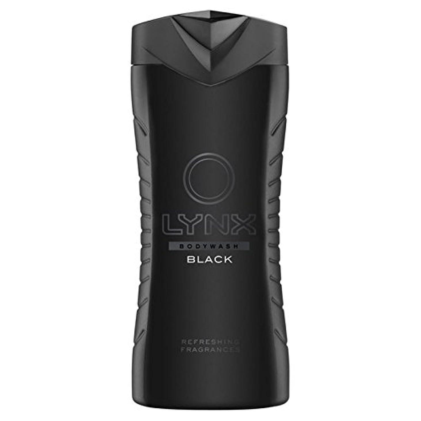 専門用語有名なサッカーLynx Black Shower Gel 400ml (Pack of 6) - オオヤマネコブラックシャワージェル400ミリリットル x6 [並行輸入品]