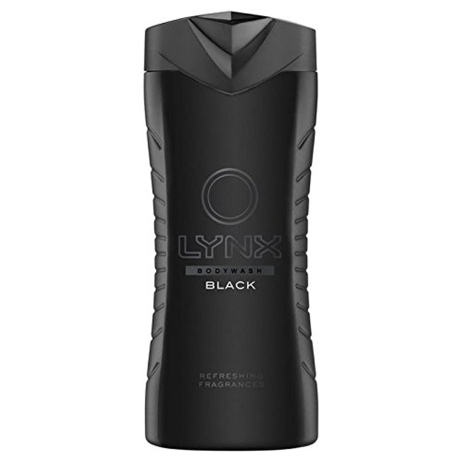 アマゾンジャングル挨拶流星Lynx Black Shower Gel 400ml (Pack of 6) - オオヤマネコブラックシャワージェル400ミリリットル x6 [並行輸入品]