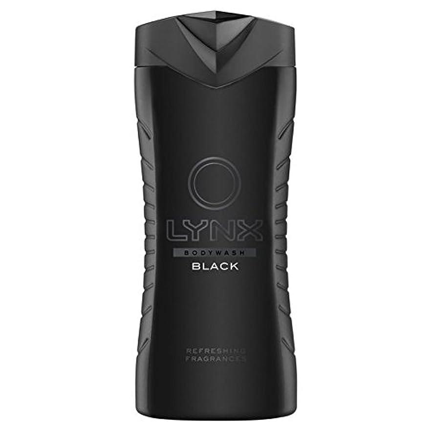商人ダニ音節Lynx Black Shower Gel 400ml - オオヤマネコブラックシャワージェル400ミリリットル [並行輸入品]