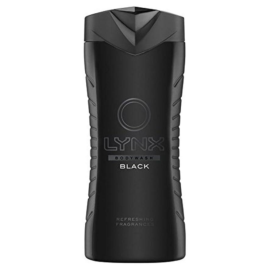 コスチューム夕暮れ代表団オオヤマネコブラックシャワージェル400ミリリットル x4 - Lynx Black Shower Gel 400ml (Pack of 4) [並行輸入品]