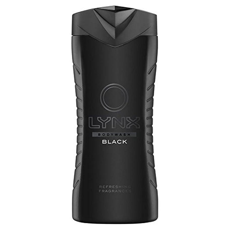 Lynx Black Shower Gel 400ml (Pack of 6) - オオヤマネコブラックシャワージェル400ミリリットル x6 [並行輸入品]
