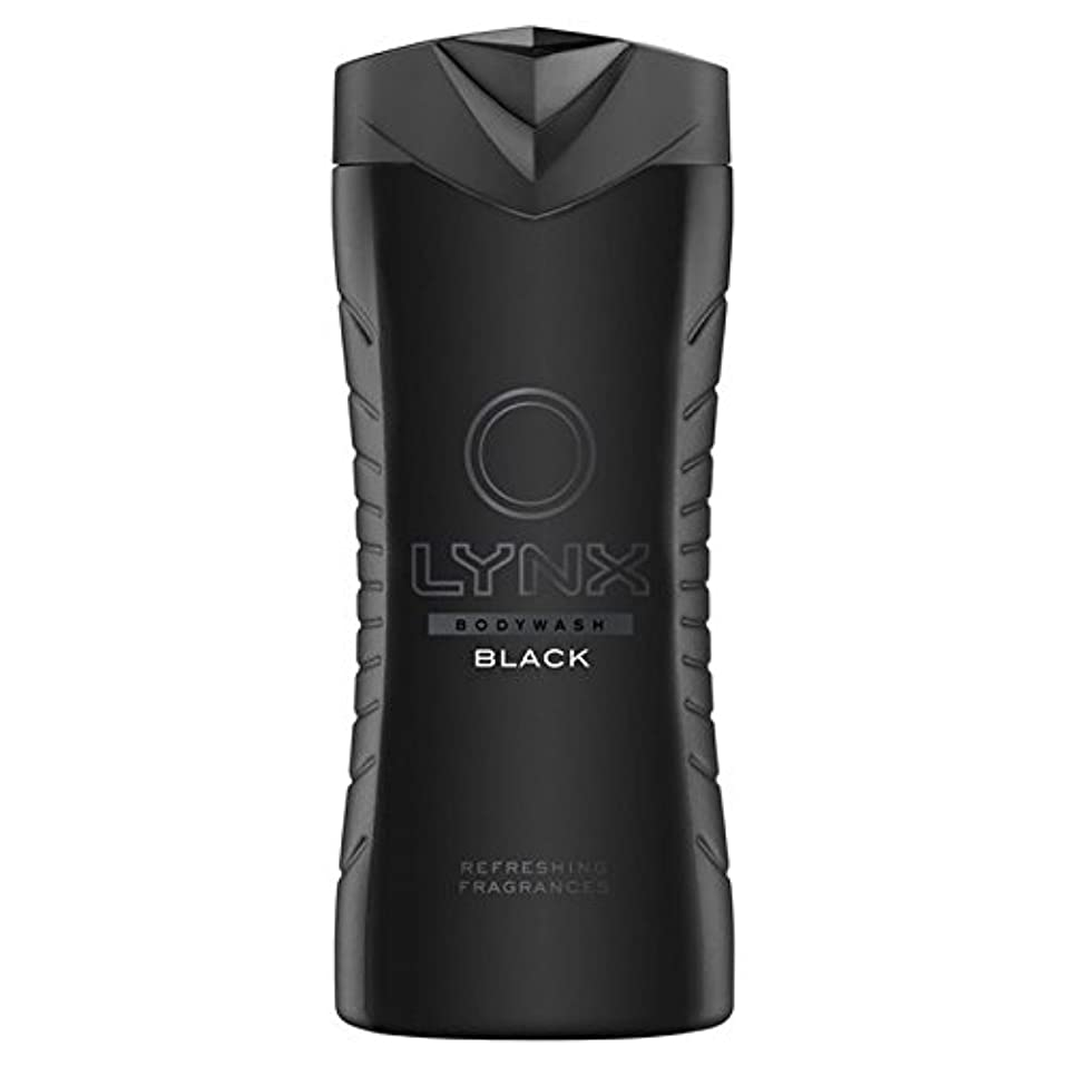 くまジャケット軍隊Lynx Black Shower Gel 400ml - オオヤマネコブラックシャワージェル400ミリリットル [並行輸入品]