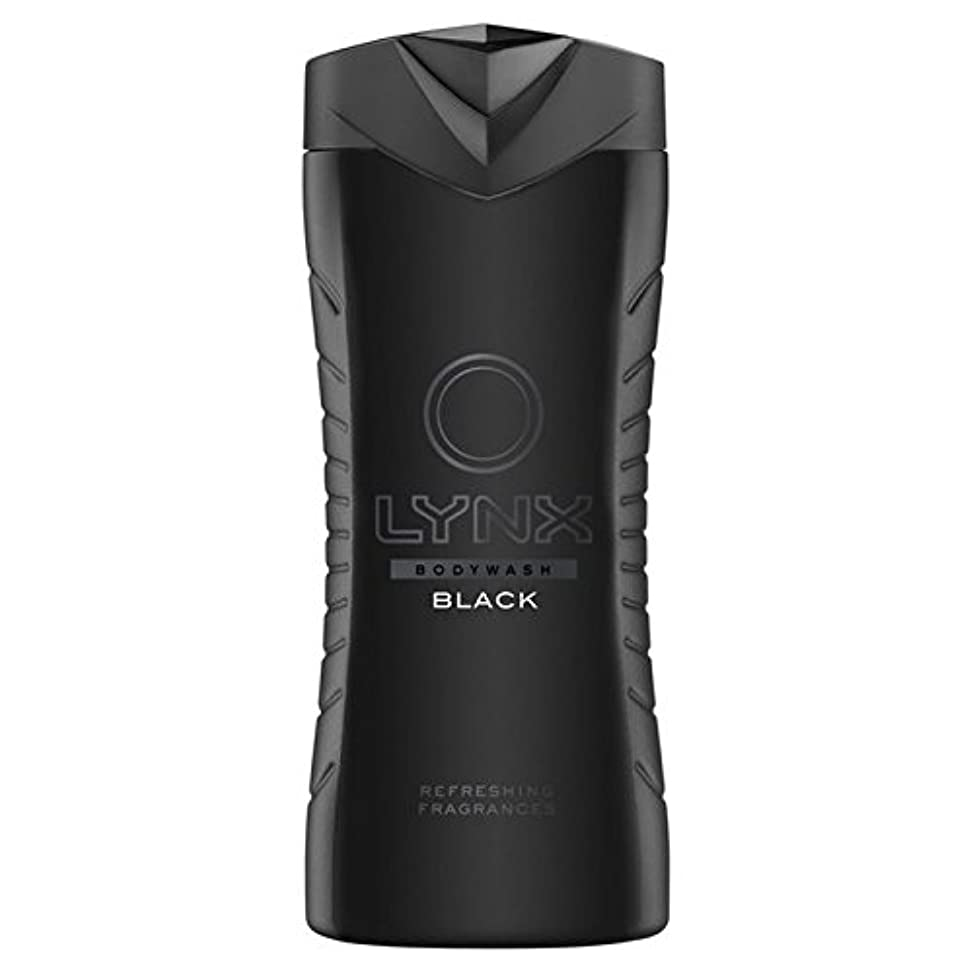 効果的に干ばつ独裁者オオヤマネコブラックシャワージェル400ミリリットル x4 - Lynx Black Shower Gel 400ml (Pack of 4) [並行輸入品]