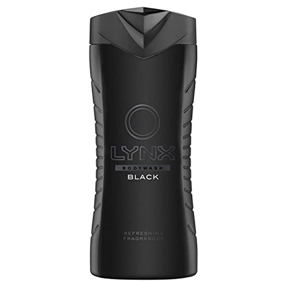 リムリム酔っ払いLynx Black Shower Gel 400ml (Pack of 6) - オオヤマネコブラックシャワージェル400ミリリットル x6 [並行輸入品]