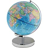 Fenteer 12 Inch Illuminated Detailed Educational Geographic Learning World Globe Terrestrial Nightlight Home Decor 3 in 1