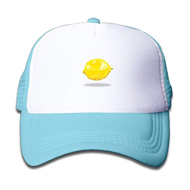 子ども グリッドキャップレモン おしゃれな 軽量 メッシュ帽子 オスとメス 通用