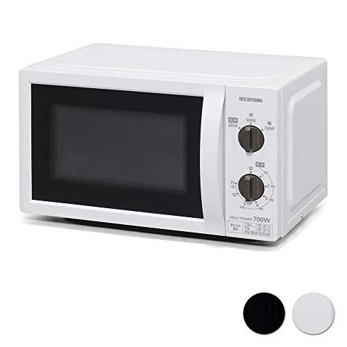 アイリスオーヤマ 電子レンジ 17L ターンテーブル ホワイト 50Hz