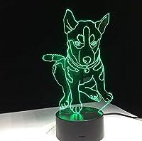 BMY 犬7色照明子供のベッドサイドスリープルームテーブルデスクラム3dモデリングled usb変更ナイトライトの装飾ギフト