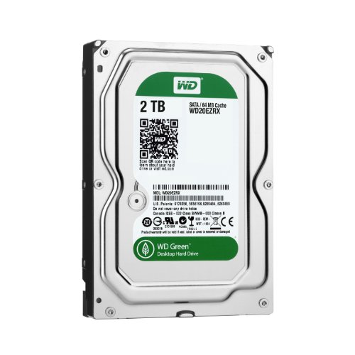 【Amazon.co.jp限定】WD 内蔵HDD Green 2TB 3.5inch SATA3.0(SATA 6 Gb/s) 64MB Inteilipower 2年保証 WD20EZRX/N (FFP)